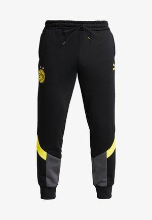 BVB BORUSIIA DORTMUND ICONIC TRACK - Træningsbukser - puma black/cyber yellow
