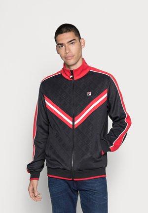 TAURI TRACK JACKET - Sportovní bunda - black true/red bright/white