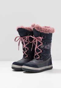 Lurchi - ALPY-TEX - Winter boots - navy/rose - 3