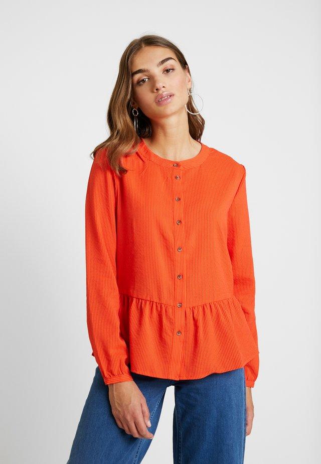 ELFI - Button-down blouse - pureed pumpk