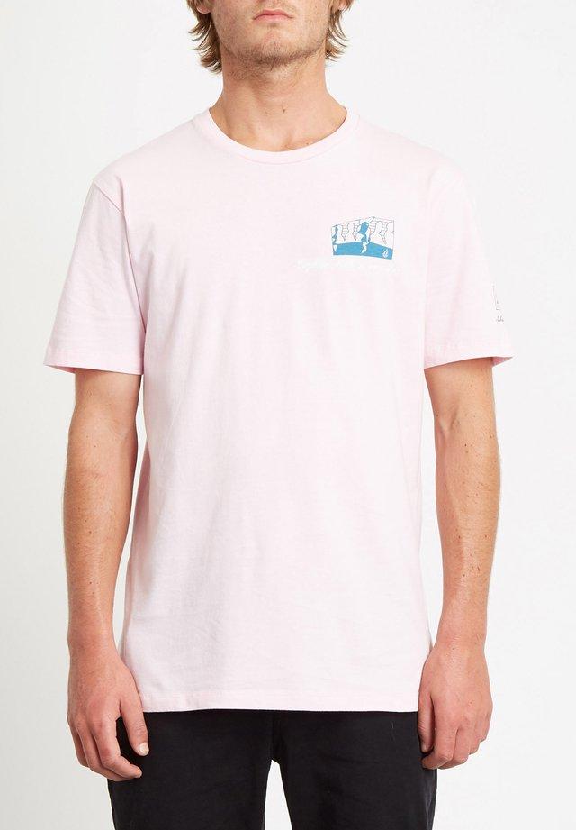 JULIEN DUPONT  - T-shirt con stampa - snow_pink