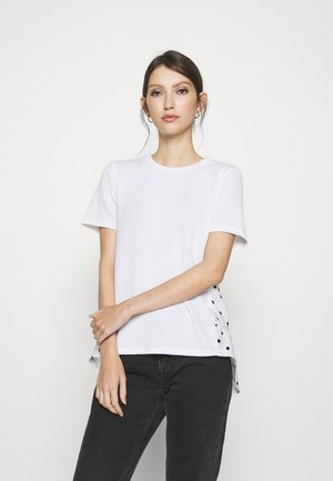 POLKA DOT TIERED BACK - Marškinėliai su spaudiniu - white