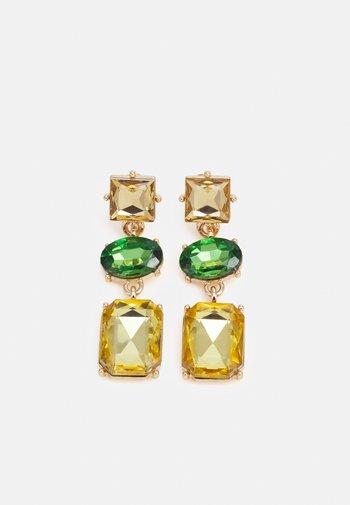 PCPYSTAL EARRINGS - Earrings - gold-coloured/green/multi