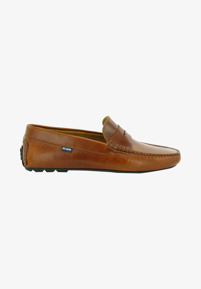 CITY LOAFERS - Instappers - brandy