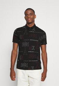 Armani Exchange - Polo shirt - black/red heritage - 0