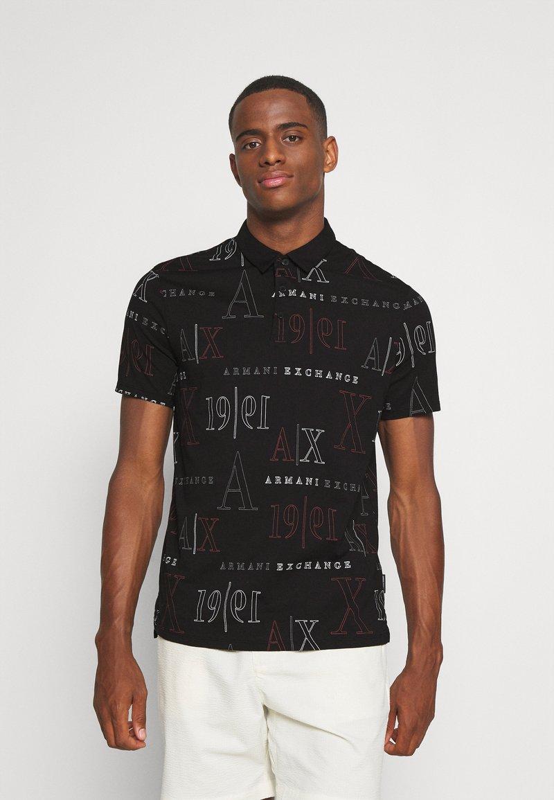 Armani Exchange - Polo shirt - black/red heritage
