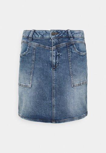 Denim skirt - blue medium wash