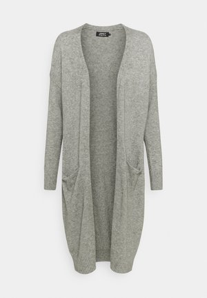 ONLTIGGI LONG CARDIGAN - Strickjacke - medium grey melange