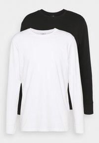 ESSENTIAL LONG SLEEVE T-SHIRT 2 PACK - Långärmad tröja - black/white