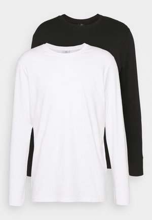 ESSENTIAL LONG SLEEVE T-SHIRT 2 PACK - Topper langermet - black/white
