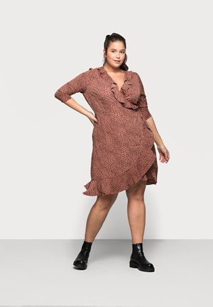 CARLUXMAJA WRAP DRESS - Day dress - cedar wood