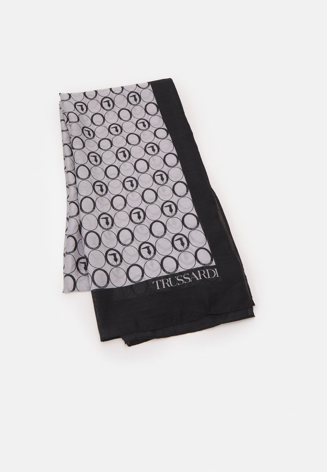 MAIN PASHMINA STAMPA OVALI ALL OVER UNISEX - Foulard - navy