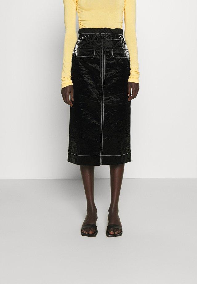 TAYLOR SKIRT - Falda de tubo - tyvek black