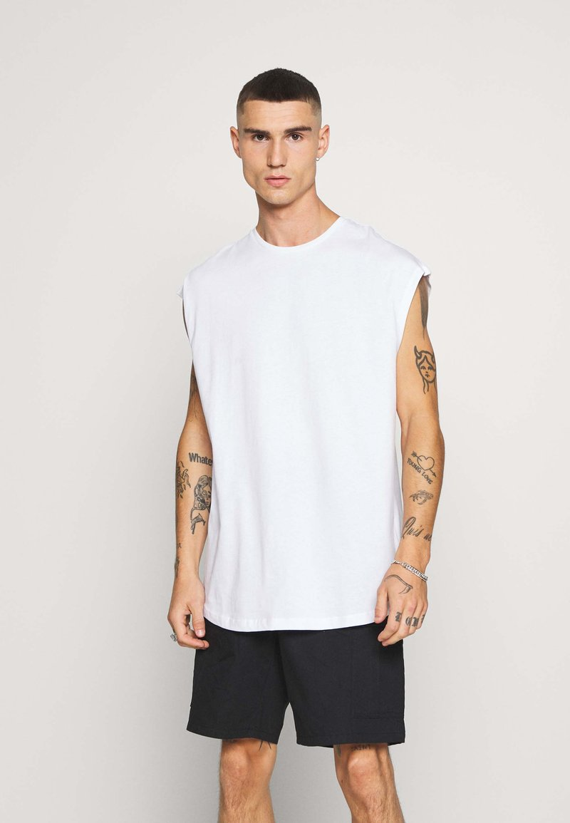 Jack & Jones - JCOEYAL TEE - Print T-shirt - white/box fit