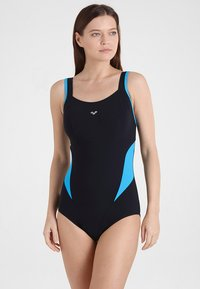 Arena - MAKIMURAX LOW CUP - Swimsuit - black/bright blue/turquoise - 1