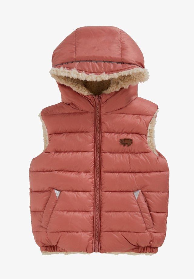 ECOREVERSIBLE SHERPA GILET - Waistcoat - pink