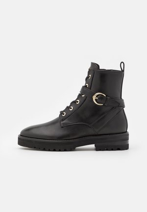 AVA  - Šněrovací kotníkové boty - black
