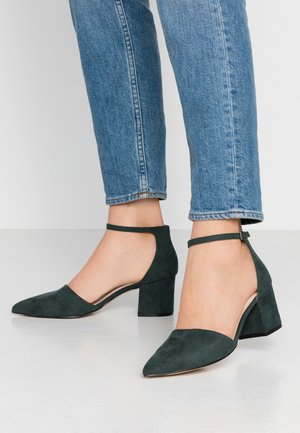 WIDE FIT BIADIVIDED - Classic heels - dark green