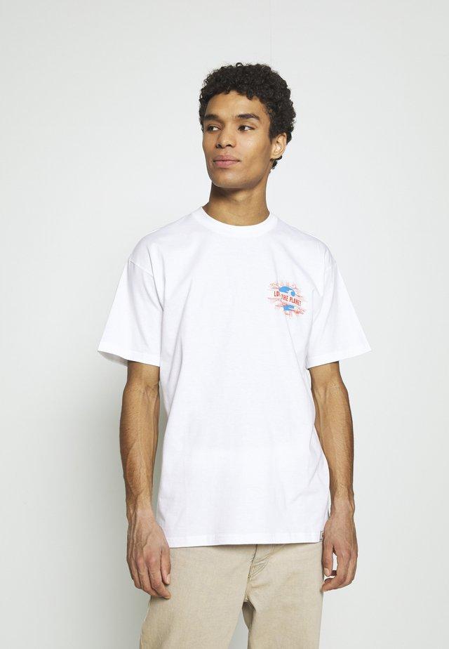 LOVE PLANET - T-shirt imprimé - white