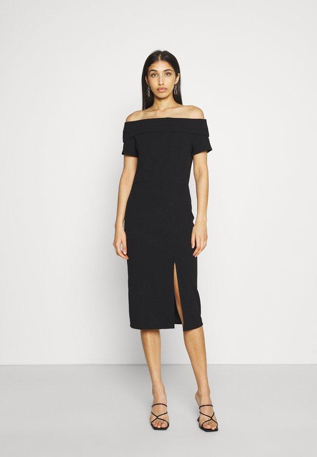 KAY MIDI DRESS - Vestito di maglina - black