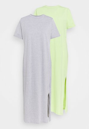 SUNNY DRESS MIDI 2 PACK - Jersey dress - lime