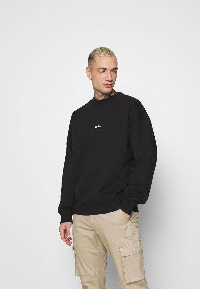 HIGHNECK BADGE - Sweater - black