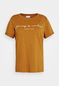ONLY Carmakoma - CARBESS LIFE TEE - T-shirts med print - pumpkin spice melange - 0