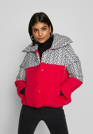 GRAPHIC BLOCK JACKET - Winter jacket - red