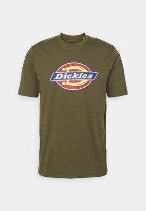 ICON LOGO TEE - Print T-shirt - military green