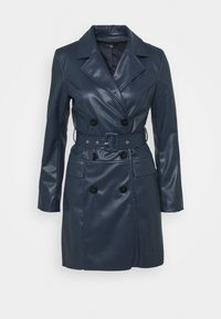 Who What Wear - BELTED JACKET DRESS - Robe d'été - dark navy - 0