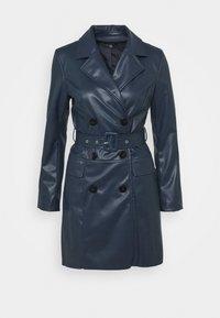 Who What Wear - BELTED JACKET DRESS - Sukienka letnia - dark navy - 0