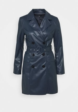 BELTED JACKET DRESS - Korte jurk - dark navy