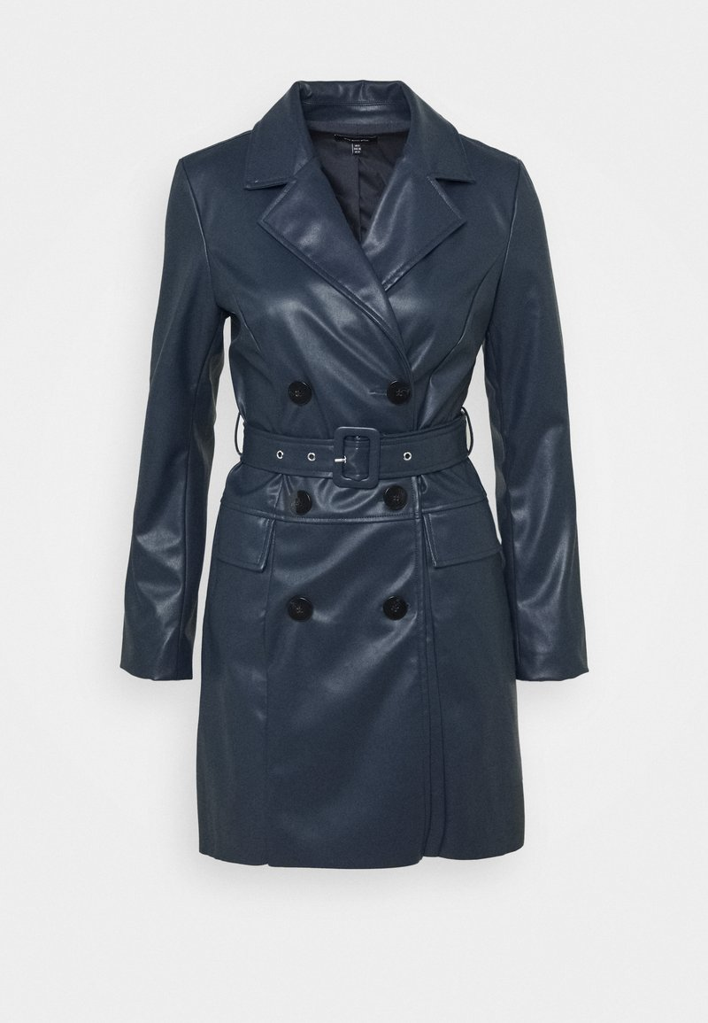 Who What Wear - BELTED JACKET DRESS - Kjole - dark navy
