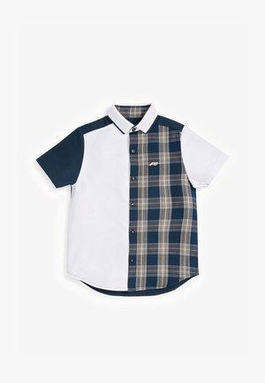 SHORT SLEEVE CHECK SPLICED  - Camisa - dark blue