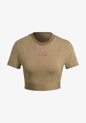 CROPPED TEE - T-shirt imprimé - cardboard