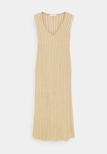 CORALIE DRESS - Strikket kjole - safari