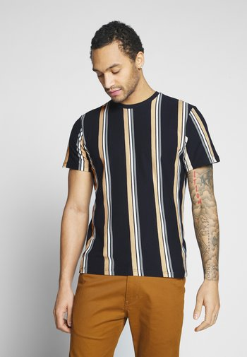 LUKE STRIPE - Print T-shirt - navy