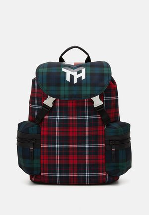 HIGHLIGHT FLAP BACKPACK CHECK UNISEX - Rucksack - red