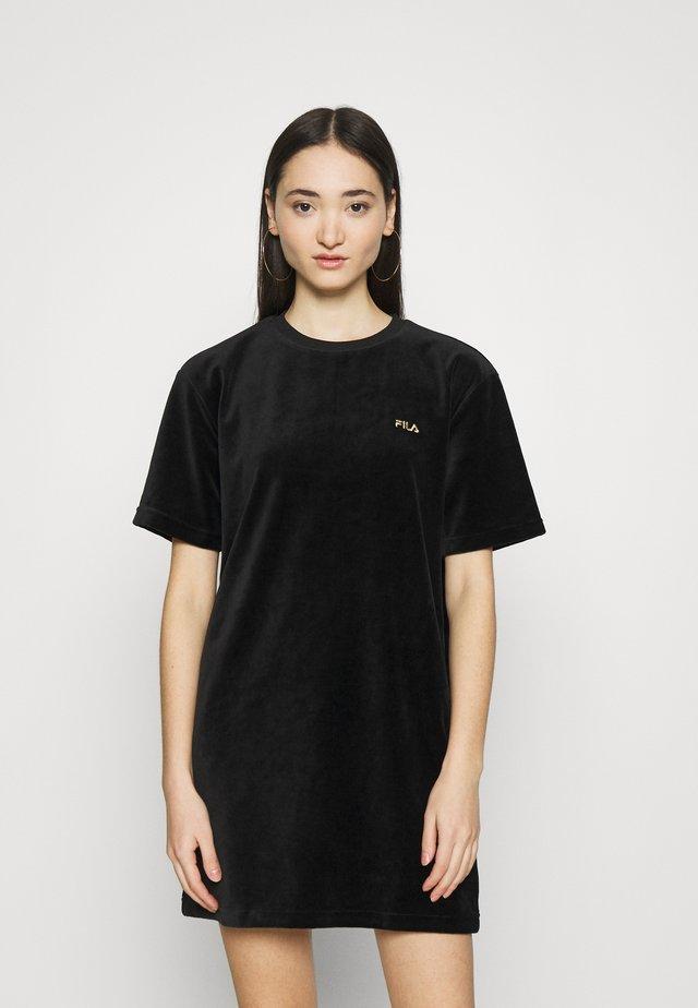 SATINKA DRESS - Korte jurk - black