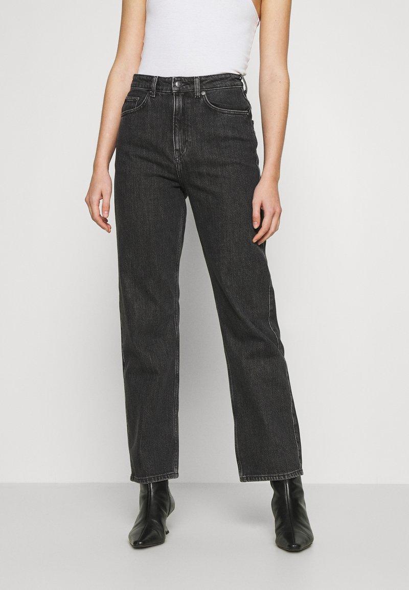Weekday - ROWE - Straight leg jeans - nova black