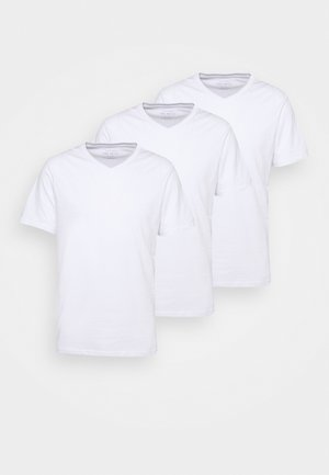 ESSENTIAL NECK TEE 3 PACK - T-shirt basique - white