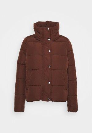 ONLCOOL PUFFER JACKET - Zimní bunda - chocolate fondant