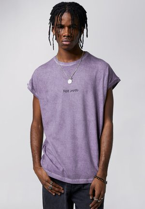 Print T-shirt - vintage lilac