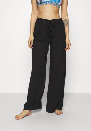 CRINKLE TROUSERS - Pyjamabroek - black