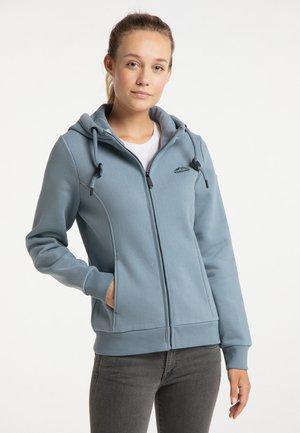 Hoodie - grau blau