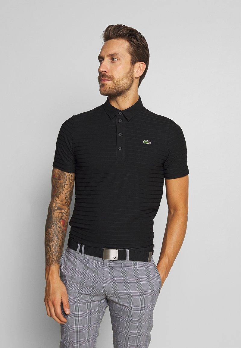 Lacoste Sport - GOLF STRIPE - Sports shirt - black