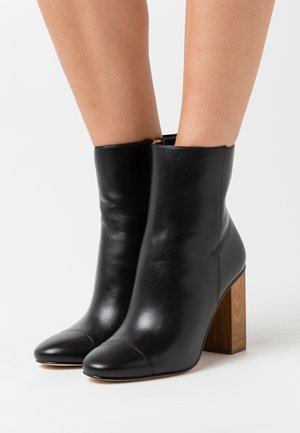 PETRA TOE CAP BOOTIE - High heeled ankle boots - black