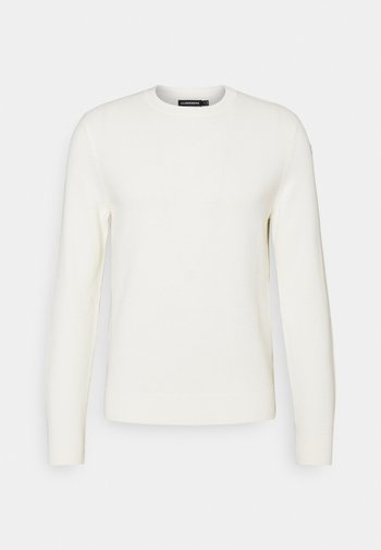 ANDY STRUCTURE C-NECK - Stickad tröja - cloud white
