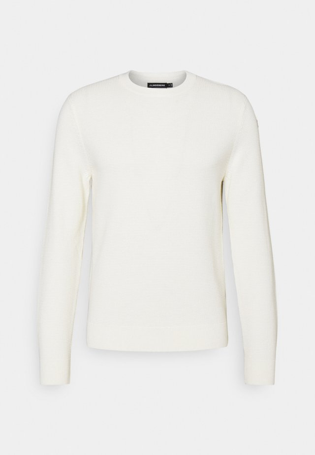 ANDY STRUCTURE C-NECK - Neule - cloud white