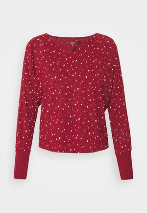 SPLIT NECK - Pyjama top - red